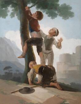 Goya y Lucientes, Francisco de Muchachos trepando a un árbol, 1791 – 1792, Museu do Prado